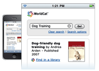 Illustration: WorldCat on the mobile Web